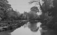 Burford, River Windrush c.1955