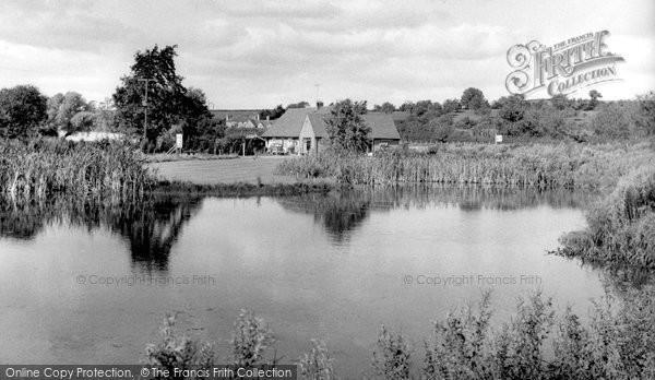 Burford, The Gardens, The Lake And The Café c.1965
