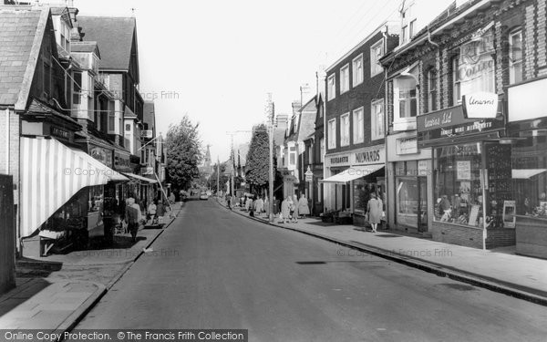 Burgess Hill, Church Road c.1965