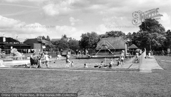 Photo of Burgess Hill, St John's Park and Swimming Pool c1960