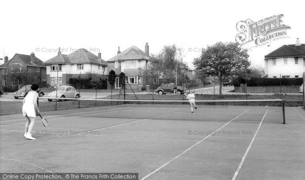 Burgess Hill, The Tennis Courts c.1965