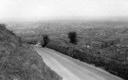 Burgess Hill, View From Ditchling Beacon c.1965