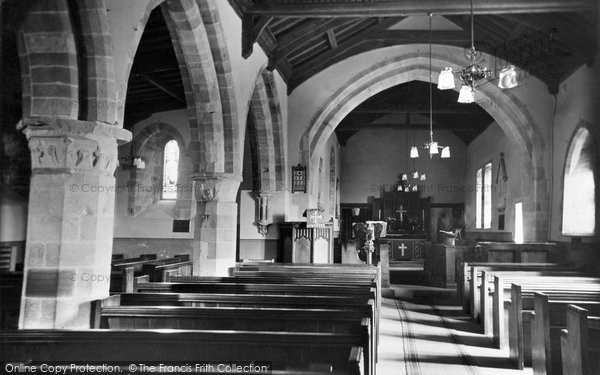 Burgh By Sands, Church Interior c.1935