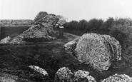 Burgh Castle, Breach In The Castle Wall c.1931