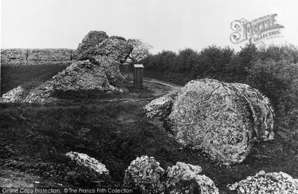 Burgh Castle, Breach In The Castle Wall c.1955