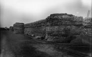 Burgh Castle, Castle Ruins, Roman Wall c.1931
