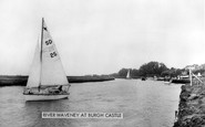 Burgh Castle, River Waveney c.1955