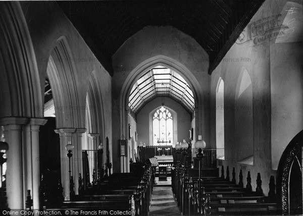 Burgh Castle, The Nave, St Peter's Church c.1955