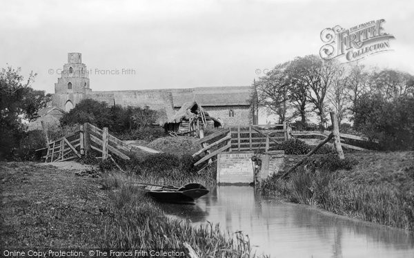 Photo of Burgh St Peter, from River Waveney 1893