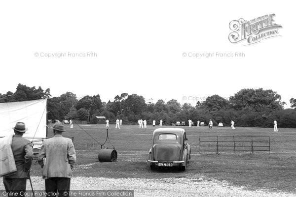 Burley, Cricket Pitch c.1955