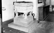 Burnham Deepdale, The Font, St Mary's Church c.1960