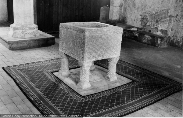 Burnham Norton, The Font, St Margaret's Church c.1955