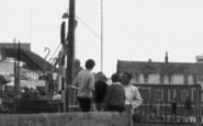 Burnham-on-Crouch, Men By The Town Steps  c.1965
