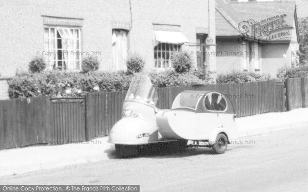 Burnham On Crouch, Motorscooter And Sidecar c.1960