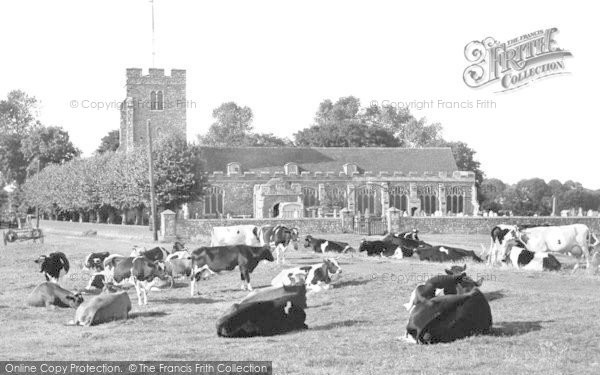 Burnham On Crouch, St Mary's Church c.1955
