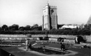 Burnham-On-Sea, Church And Gardens c.1939