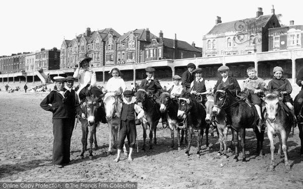 Burnham On Sea, Donkeys On The Sands 1913
