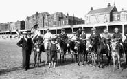 Burnham-On-Sea, Donkeys On The Sands 1913