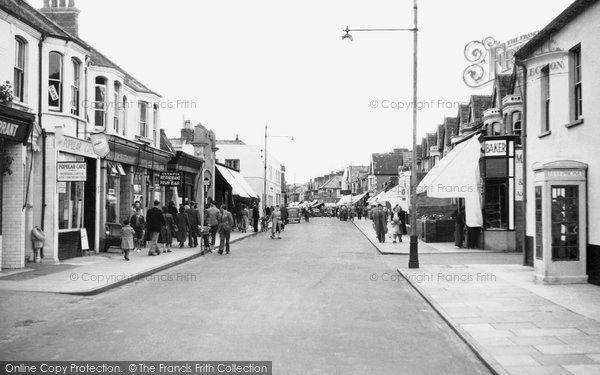 Burnham On Sea, High Street c.1955
