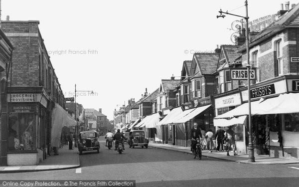 Burnham On Sea, High Street c.1955