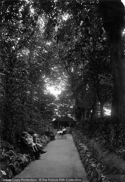 Burnham On Sea, Manor Gardens, A Shady Walk 1913