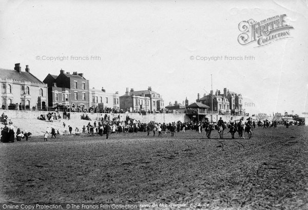 Burnham On Sea, On The Sands 1903