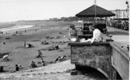 Burnham-On-Sea, The Beach c.1955