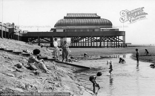 Burnham On Sea, The Beach c.1955