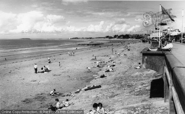 Burnham On Sea, The Beach c.1960