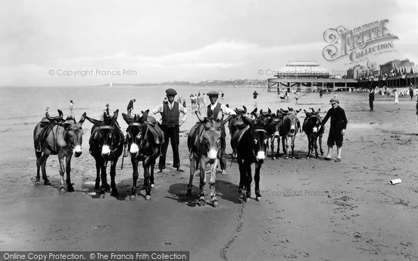 Burnham On Sea, The Donkeys On The Sands 1926