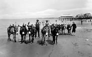 Burnham-On-Sea, The Donkeys On The Sands 1926
