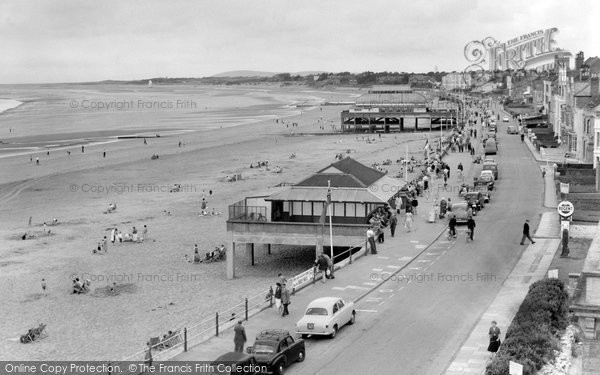 Burnham On Sea, The Esplanade c.1960