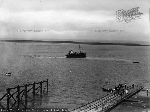 Burnham On Sea, The Jetty And Steamer 1926