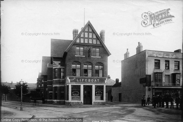 Burnham On Sea, The Lifeboat, Liberal Club, Highbridge Road 1896