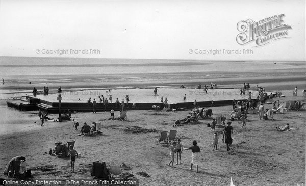 Burnham On Sea, The Paddling Pool c.1950