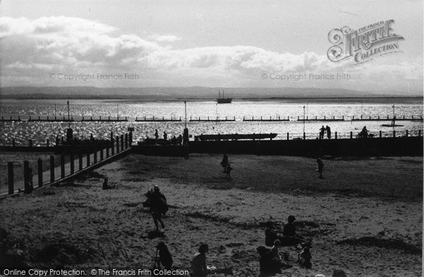 Burnham On Sea, The Pool At Evening 1939