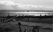 Burnham-on-Sea, The Pool At Evening 1939