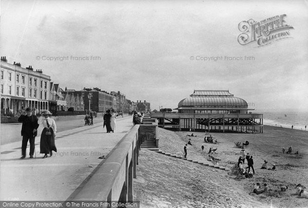 Burnham On Sea, The Promenade And Pavilion 1913