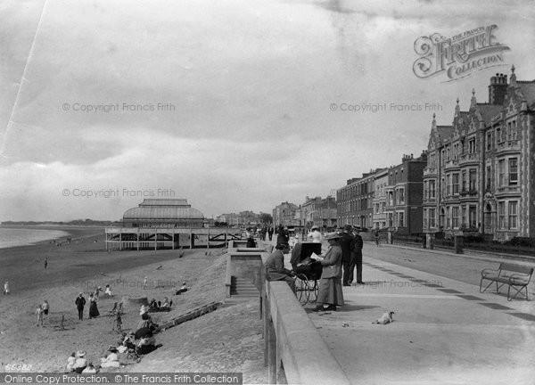 Burnham On Sea, The Promenade And Pavilion 1913