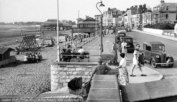 Burnham On Sea, The Promenade c.1955