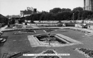 Burnham-On-Sea, The Sunken Gardens, Marine Cove c.1955