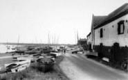Burnham Overy Staithe, Waterside c.1965