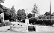 Burnham, The War Memorial And Church c.1955