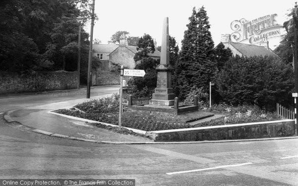 Burnopfield, The War Memorial c.1960