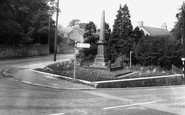 Burnopfield, The War Memorial c.1965