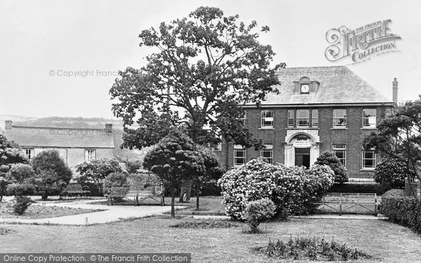 Burry Port, The Memorial Hall And Gardens c.1955