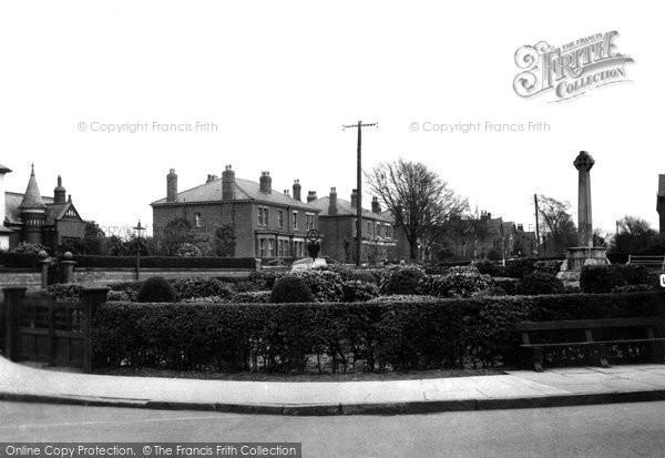 Burscough, Junction Lane And Memorial c.1950