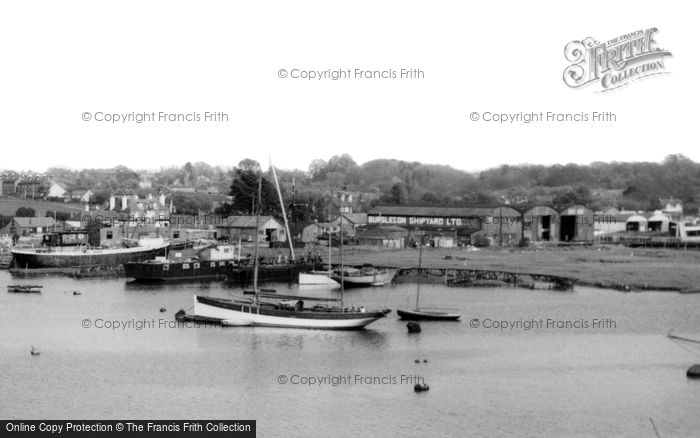 Bursledon, The Shipyard c.1955