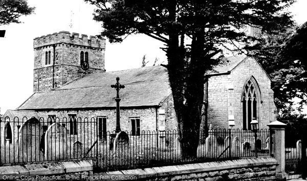 Burton In Kendal, St John's Church c.1955