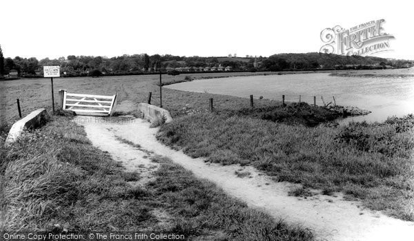 Burton Joyce, River Trent c.1965